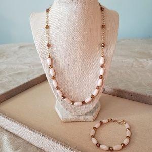 Artisan Topaz Necklace and Bracelet Set